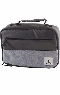 ad94ee3179a Nike Air Jordan Jumpman Soft School Insulated Lunch Tote Bag Box Black Gray