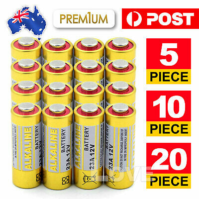 5 x 12V Alkaline Battery A23S L1028 RVO8 MS21 MN21 for Car Alarms Remote Control