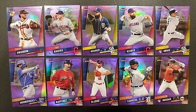 2019 TOPPS FINEST PURPLE PARALLEL /250 You Pick Complete Your Set $0.99 SHIPPING