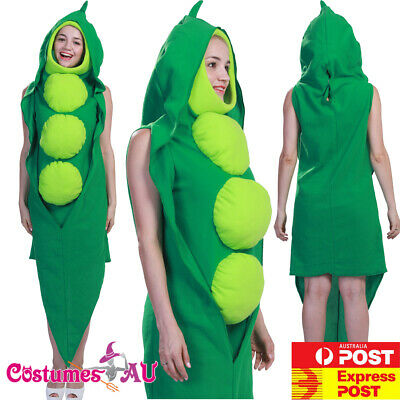 Unisex Peas Be With You Green Pea In a Pod Costume Vegetable Food Novelty Mascot