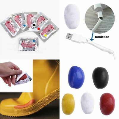 Multi-purpose Mouldable Glue Single Use Pack Black White Red Yellow Blue W8X9