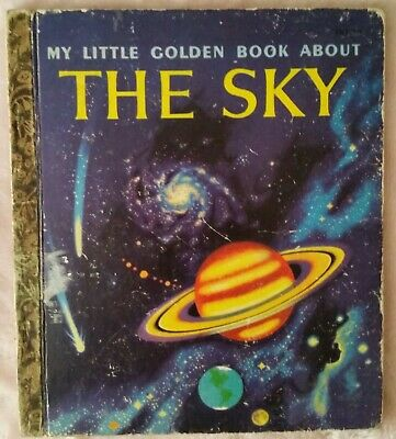 MY LITTLE GOLDEN BOOK ABOUT THE SKY ~ LGB ~ Vintage HC ~ TIBOR GERGELY
