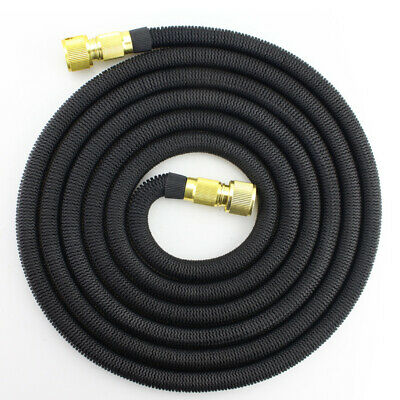 15 25 30 50 FT 3X Stronger Deluxe Expandable Flexible Garden Water Hose Black