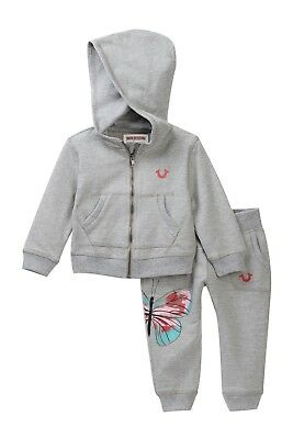 huge selection of 010be cb3a9 True Religion French Terry Sweatsuit Baby Girls HEATHER GREY Size 18 MO