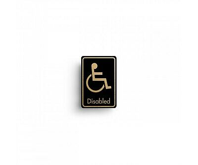 Disabled Symbol with Text Door Sign - 12.8 x 8.3cm