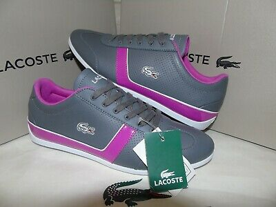 Mens Genuine  Lacoste Missano Sport Trainers  Size Uk-4   Eu-37  Leather B/New