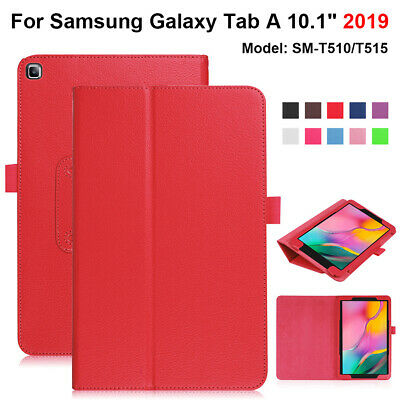 For Samsung Galaxy Tab A 10.1 (2019) T510 T515 Case Leather Folio Stand Cover,