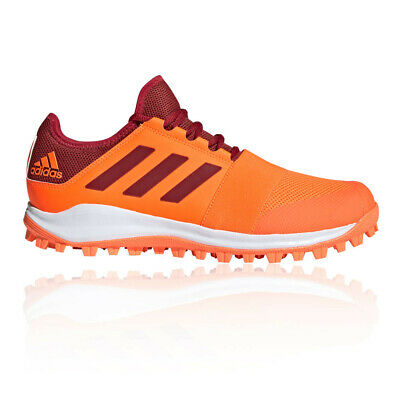 adidas Mens Divox 1.9S Hockey Shoes Pitch Field - Orange Sports Breathable