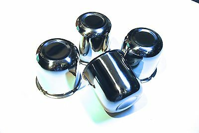 Push Through Wheel Center Caps 2.95, Chrome, set of 4