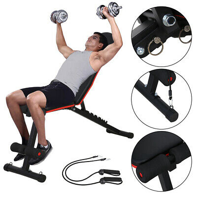 Heavy Duty Folding Weight Bench Gym Lifting Dumbbell Abs Chest Press Adjustable