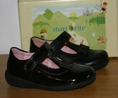 Girls' Shoes Start-rite Girls Pre-Trinity Black Leather or Patent School Shoes Various Sizes