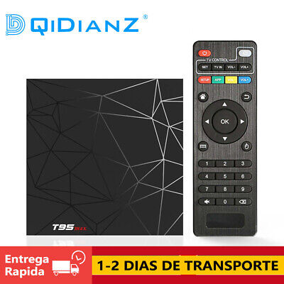 T95 MAX Android 9.0 Smart Set Top Box Quad Core TV BOX CAJA Media Player