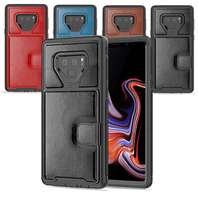 Case For Samsung Galaxy Note 9 Shockproof Leather Rugged Rubber Bumper Cover
