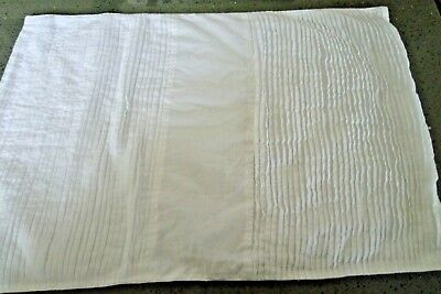 DENBY White Cotton Pleated Lined Back 7 Placements & 7 Matching Napkins Set