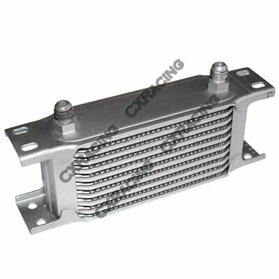 "Aluminum Oil Cooler 6.5"" Core 10 Row AN6 Fitting Hi Performance"