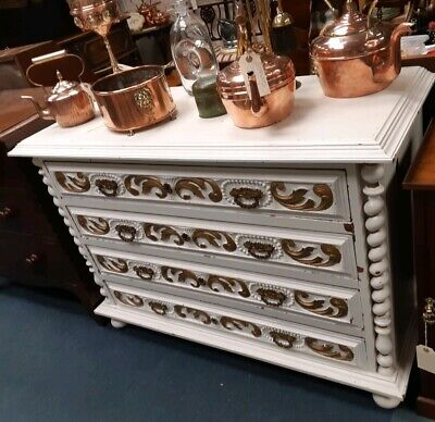 Antique Victorian Scottish Chest Of Drawers.