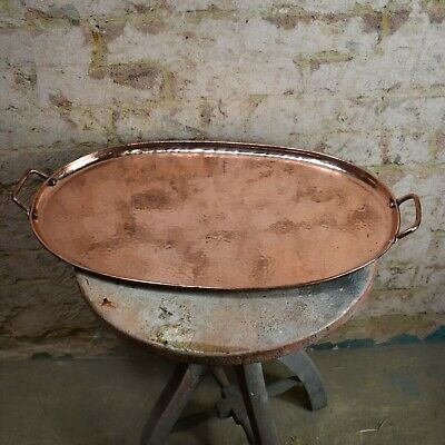 Antique Oldbury Hand Beaten Hammered Copper Tray Arts and Crafts