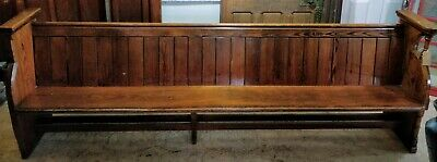 Reclaimed Church Pew 9ft Long Clover Pitch Pine Seat Bench Solid Wood #IN21
