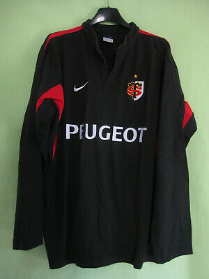 Maillot Rugby Stade Toulousain Peugeot Toulouse ST Nike vintage Noir Jersey - L