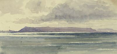 Lake Vanern, Sweden - Original 1904 watercolour painting
