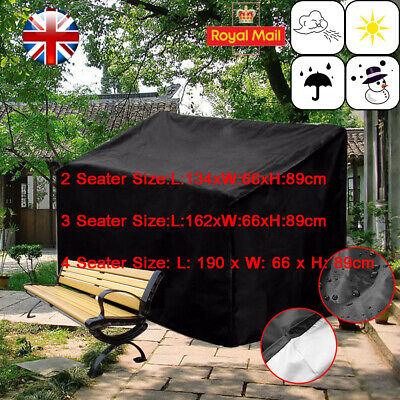 Waterproof 2 3 4 Seater Bench Seat Garden Patio Furniture Cover Cover Outdoor UK