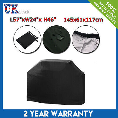 210D Heavy Duty BBQ Grill Cover Waterproof Garden Outdoor Protector Rain Large
