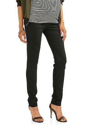 7d195cab7f7e7 Planet Motherhood Maternity Full Panel Colored Skinny Jean Black Small