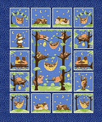 Susybee * Baron The Bear Quilt Panel * New * Free Post *