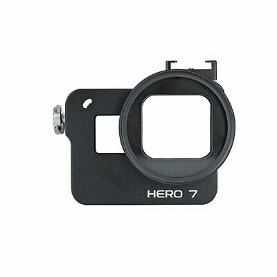 CNC Aluminum Alloy Cage Protective Frame Case with Hot Shoe Hole for GoPro 7 VB