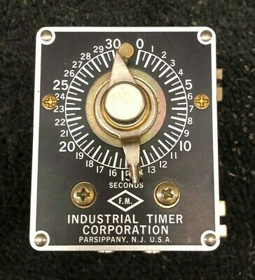 Industrial Timer SF-30 sec 115 volts 60 cycle