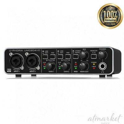 NEW BEHRINGER UMC 204 HD 24-Bit / 192 kHz USB Audio interface (Beringer) JAPAN