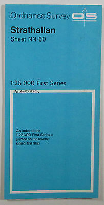 1972 old vintage OS Ordnance Survey 1:25000 First Series Map NN 80 Strathallan