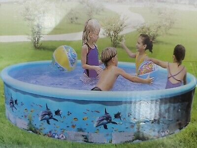 New Large Family Swimming Pool 8ft Garden Outdoor Summer Childrens Paddling Pool