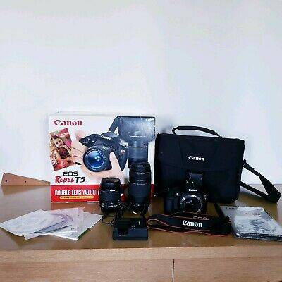 Canon EOS rebel T5 Digital SLR 18.0MP Camera + EF-S 18-55 mm Lens Kit Bundle