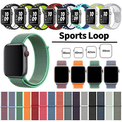 Silicone Nylon Sport Band Strap for Apple Watch iWatch Series 4 3 2 1 42/40/44mm