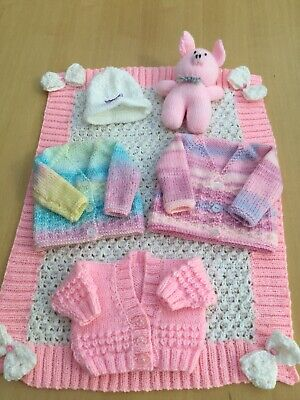 Layette Bundle Job Lot For A Premature Baby Girl - Or Doll - Gorgeous