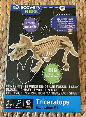 9a6bef990 Discovery Kids Dinosaur Triceratops Excavation Kit Fossil Dig Toy Free Gift  Wrap