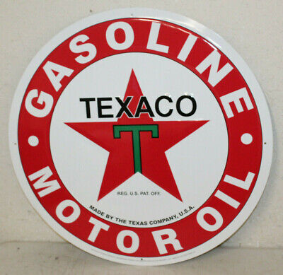 "Large Vintage Style 24"" Texaco Gas Station Signs Man Cave Garage Decor Oil Can"