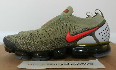 DS Nike Air Vapormax Flyknit Moc 2 Neutral Olive Red mens run trainer AH7006-200