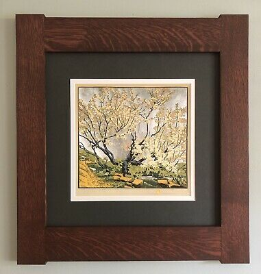 Mission Style Gustave Baumann Arts & Crafts Framed Print- Silver Sky