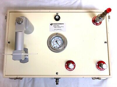 GE Druck Pressurements T2600-3 Vacuum Dead Weight Tester Calibration