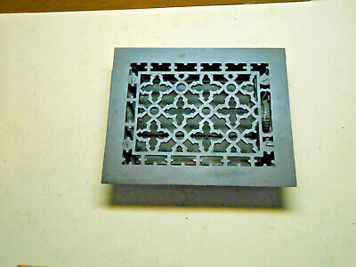 6 X 8 Antique  Black Cast Iron Heating Grate With Louvers