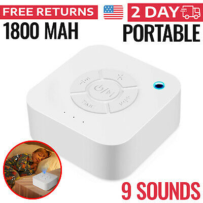 WHITE NOISE GENERATOR Sound Machine Spa Easy Sleep Baby Rain Relax Therapy  Kids