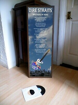 Dire Straits Brothers In Arms Promotional Poster Lyric Sheet,Pop Rock,Blues,