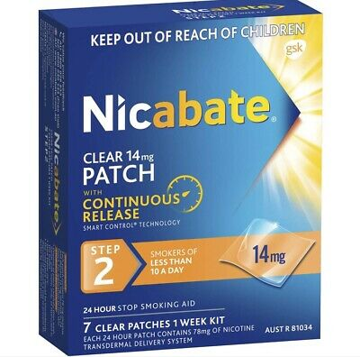 Nicabate 14mg Boxes x 4 (28 Patches)