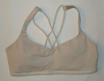 0a1ae229f LULULEMON FREE TO BE BRA NUDE W/PADS YOGA PILATES RUNNING SPIN DANCE GYM  size