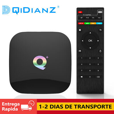 DQiDianZ Q PLUS Android 9.0 4GB + 32GB 64GB Smart TV BOX Quad Core WIFI TV CAJA