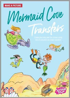 Scribble Down Mermaid Cove Picture Transfer Pack CRAFT COLORING TOY EDUCATIONAL