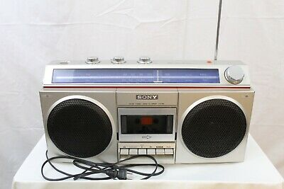 Vintage Sony Cfs-400 Boombox Cassette Player