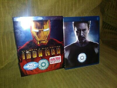 Iron Man Ultimate Edition Blu-ray (2-Disc Set) with Slipcover 2008